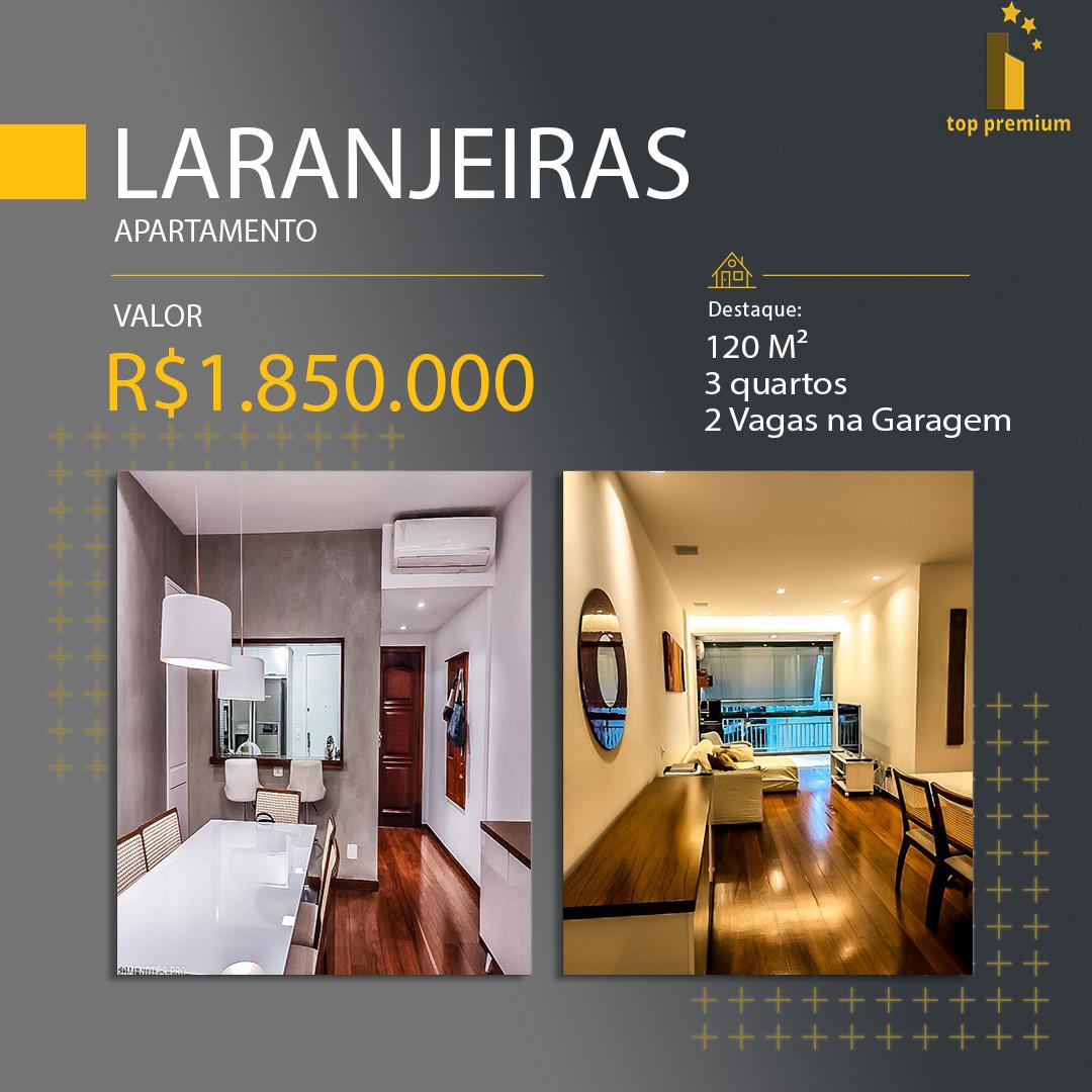 Apartamento com 3 quartos e mobiliado, 120 m² na Zona Sul em Laranjeiras, Rio de Janeiro